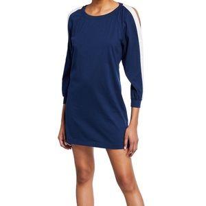 Pam & Gela Cold Shoulder Lace Up Back Dress 8217